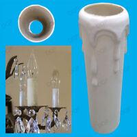 20 X Abtropft Kerze Hülse Wachs Effekt Kronleuchter Glühbirne Lampe Deckel 80mm