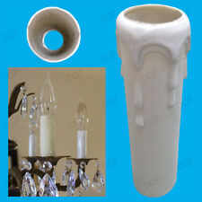 2x Drip Candle Sleeve Wax Effect Chandelier Light Bulb Lamp Cover 100mm x 25mm