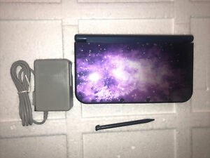 Nintendo New 3DS XL Galaxy Game System Purple Used Handheld Console #A3