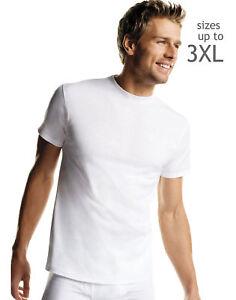 Hanes Mens White T-Shirts Undershirts TAGLESS Crewneck 5-Pack Short Sleeve Tee