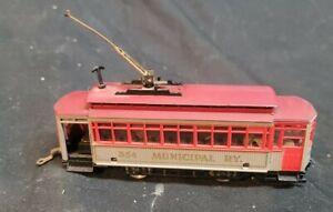 HO Scale AHM Motorized Brill Trolley Car #354 MUNICIPAL R.Y.