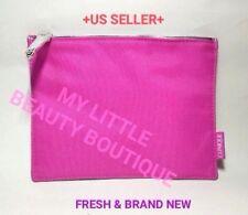 Clinique PINK Silver TASSEL Makeup Cosmetic Flat Zipper Pouch Bag Travel Case