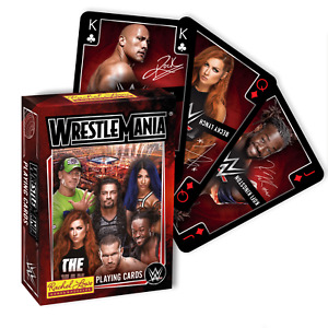 WWE Wrestlemania Playing Cards *NEW, BOXED, FAST UK DISPATCH*