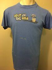 Vtg Thin Soft Daytona Beach Shirt Oyster Pub Bar Beer Blue 50/50 Mens S Thrashed