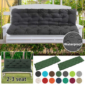 2/3 seat Thick Outdoor Garden Bench Seat Cushion Backrest Waterproof Bench Pad