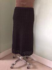 Falda Para Mujer Crochet Anne Klein, Negro/Verde Talla M encajaría Sz12
