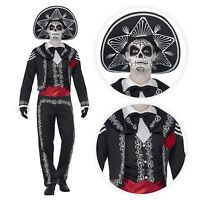 Adult 4pcs Mexican Day Of The Dead Tailcoat Mens Halloween Fancy Dress Costume