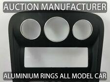Mercedes Citan W415 Aluminium Ringe für Lüftungsregler / Heizungsregler x3