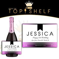 personalised wine champagne prosecco cava bottle label birthday, any occasion