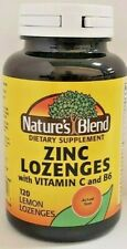 Nature's Blend Zinc Lozenges with Vitamin C and B6 120 Tablets -Exp Date 05-2020