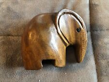 Hand Carved Wood Elephant 4 x 5