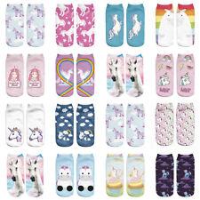 Women Girl Teen Cute Cartoon Harajuku Animal 3D Print Unicorn Kawaii Ankle Socks