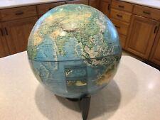 Vintage Globe Rand McNally World Portrait Raised Topography