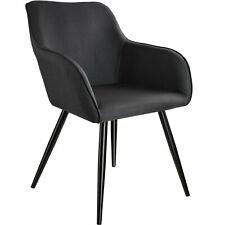 Esszimmerstuhl Küchenstuhl Leinenoptik Polsterstuhl Stuhl Sessel Schwarz B-Ware