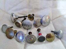 lot de 13 anciens boutons/poignées-1950-en inox chromé-pour meuble-chevet-tiroir