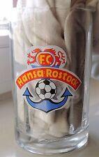 FC Hansa Rostock tankard glas bierkrug