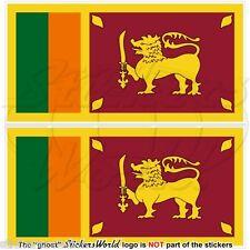 SRI LANKA Flagge Ceylon SRILANKISCHE Fahne Vinyl Sticker, Aufkleber 75mm x2