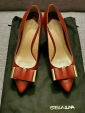STELLA  LUNA Burgundy Leather High Heel Shoes UK Size 4/ EU 37