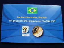 Münzen mit Fußball Motiven aus Brasilien