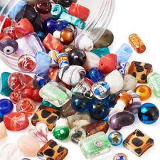 200pcs Random Handmade Lampwork Glass Beads Murano Crystal Spacers Charms 4~20mm