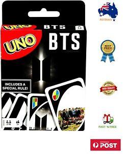 🔥🔥 UNO BTS K-Pop Music Dance CARD GAME Special Ed. KPOP Korea Mattel NEW🔥🔥
