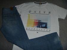 #3722 QUIKSILVER Straight Fit Jeans 32 & T Shirt Medium