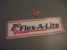 VINTAGE FLEX A LITE Sticker / Decal  ORIGINAL old stock AUTOMOTIVE