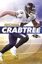 MICHAEL CRABTREE Baltimore Ravens Superstar 2018 NFL Football Official  POSTER d81b2a216