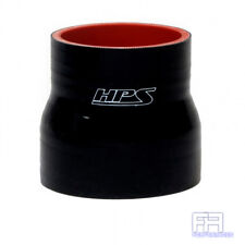 "1X HPS Coupler Tube Pipe 2-5/8"" > 3"" 67mm > 76mm Silicone Reducer Hose Black"