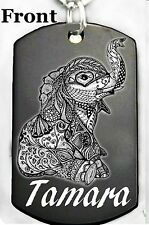 ELEPHANT DOG TAG - Necklace or Keychain + FREE PERSONALIZATION