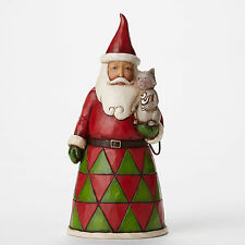 "Jim Shore Pint Sized Santa w/Cat Figurine ""Most Purr-fect Time of Year"" 4047775"