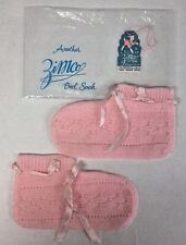 Pink Winter Booties Vtg Zimco Knit Bed Socks Ladies Small Warm Wool Zimmerman US