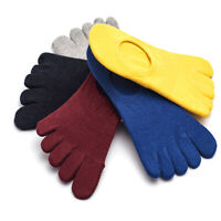 1 Piar Women Ankle Five Finger Toe Cotton Socks Invisible Hosiery Boat Socks