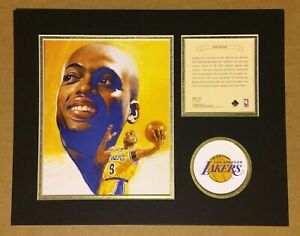 Los Angeles Lakers NICK VAN EXEL Basketball 11x14 Kelly Russell Lithograph Print