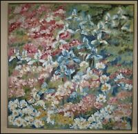 Dorothy Hagerty 1929-2014 Oregon Impressionist Flower Floral Oil Painting