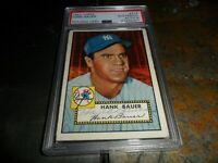 1952 Topps #215 AUTO PSA 8 Hank Bauer PSA/DNA NEW YORK YANKEES Autograph D.2007