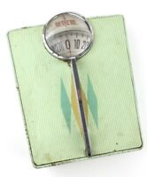 Vintage 1950's DETECTO art deco Mint Green Bathroom Scale DIAMOND Parts Repair