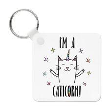 Coco the Rainbow Caticorn Porte clé Porte-clés - chat licorne drôle