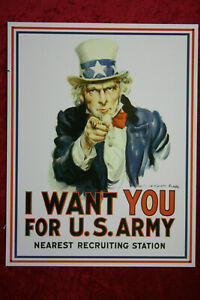 I Want You For US Army Uncle Sam Recruiting Blechschild Sign Retro Schild Plakat