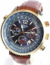 ROTARY GENTS CHRONOGRAPH PILOT DATE WATCH