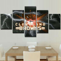 Cleveland Browns Football 5 pcs Painting Printed Canvas Wall Art Home Decorative