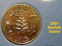 **2001 Norfolk Island 20 cent UNCIRC. Centenary of Federation coin from set!