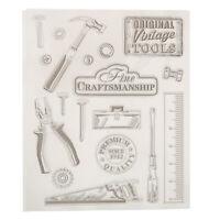 Klar Silikon Stempel Blatt Cling Scrapbooking DIY Handwerk Vintage-Tools