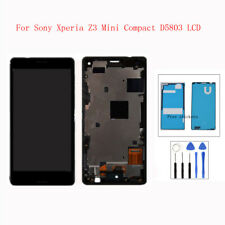Black  For Sony Xperia Z3 Mini Compact D5803 LCD Touch Screen Digitizer + Frame