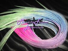Feather extensions Pastel LONG tie-dye Whiting eurohackle wide Premium Bead kit