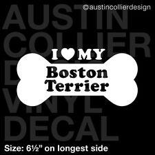"6.5"" BOSTON TERRIER vinyl decal car window laptop sticker - dog breed rescue"