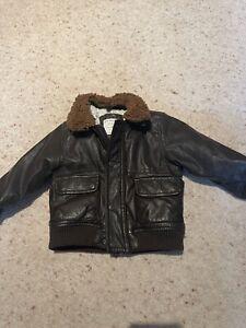 Zara Baby Boy 12-18 Months Faux Leather Bomber Jacket