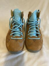 Nike Air Lebron X 10 EXT Hazelnut Suede Blue Sneakers Mens Size 10 great condo.
