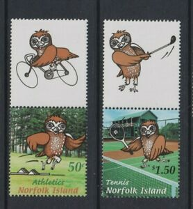 Norfolk Island - 2002, South Pacific Mini Games, Owls, Bird set - MNH - SG 794/5