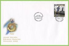 Aland 2002 Marathon Gold Medalist First Day Cover